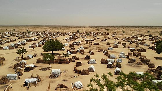 Flüchtlingslager in der Sahelzone, Foto Thomas Aders